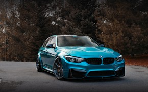 Обои BMW, Blue, Autumn, F80, Sight