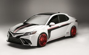 Картинка белый, фон, тюнинг, Toyota