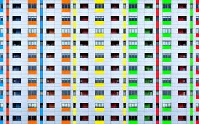 Картинка цвета, дом, окна