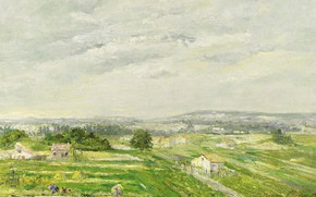 Картинка картина, Albert Gleizes, Альбер Глез, Пейзаж на Юго-Западе Франции
