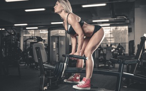 Обои workout, blonde, pose, fitness