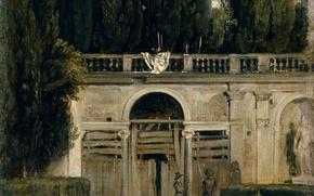 Картинка картина, жанровая, Диего Веласкес, Вилла Медичи в Риме