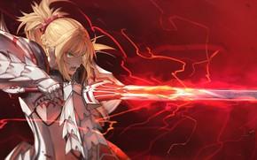 Картинка девушка, меч, сейбер, fate/grand order