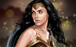 Картинка cinema, Wonder Woman, armor, movie, film, artwork, shield, Diana, Gal Gadot