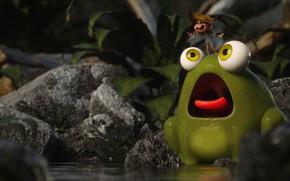 Картинка лягушка, малыш, арт, друзья, My Friend is a Frog!, fellipe beckman