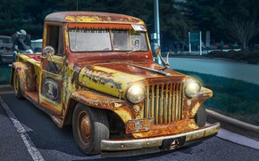 Обои Vintage, Rat Rod, Willys, 1947, Retro Cars