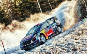 Картинка Ford, Зима, Авто, Снег, Спорт, Машина, Форд, Гонка, Занос, Автомобиль, WRC, Rally, Ралли, Fiesta, Фиеста, …