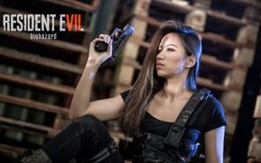 Картинка девушка, пистолет, Resident Evil
