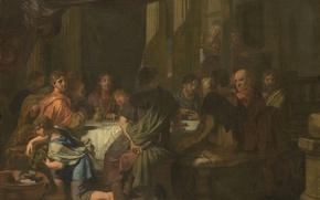 Картинка масло, картина, холст, мифология, Тайная Вечеря, Герард де Лересс