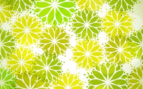 Картинка цветы, green, текстура, flower, with, pattern, leaves, shape, Seamless