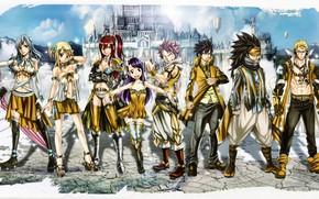 Картинка game, gold, anime, pretty, castle, asian, Gray, manga, Wendy, japanese, Fairy Tail, Natsu, oriental, asiatic, …