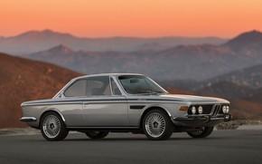 Обои BMW (E9), BMW 3 0, BMW 3.0 CSL (E9), Холмы, Bavarian, Авто, Машина, BMW 3.0 ...