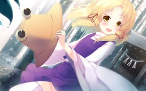 Картинка шляпа, аниме, девочка, touhou, moriya suwako