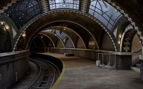 Обои перрон, Vintage Subway, тоннель