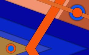Обои линии, фигуры, пересечение