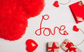 Картинка любовь, подарки, Праздник, день святого валентина