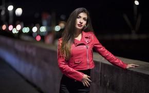 Картинка ночь, лицо, стиль, милая, модель, волосы, прогулка, Daniela