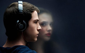 Картинка headphone, Netflix, Dylan Minnette, tv seies, Katherine Langford, 13 Reasons Why, Clay Jensen