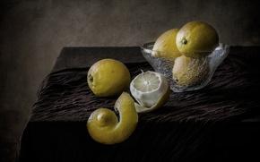 Картинка натюрморт, лимоны, кожура