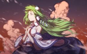 Картинка девушка, зелёные волосы, Тохо, Тоухоу