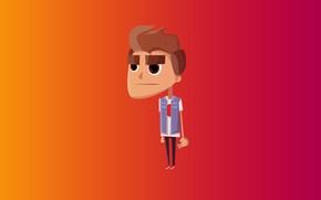 Обои оранжевый, красный, стиль, плоский, игра, мак, минимализм, градиент, mac, телефон, red, парень, iphone, game, minimalism, ...