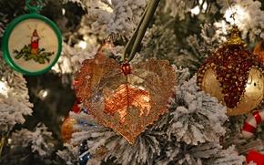 Картинка украшения, игрушки, ель, Рождество, Новый год