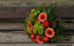 Картинка Цветы, Букет, Фон