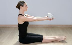 Картинка balls, pose, female, yoga