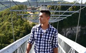 Картинка мост, природа, парень, Россия, Артур Нигай