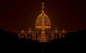 Картинка огни, Индия, День республики, Раштрапати-Бхаван, президентский дворец