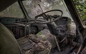 Картинка руль, салон, требуется ремонт