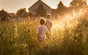 Картинка лето, солнце, дети, sunny days came