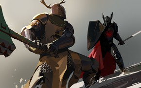 Картинка axe, sword, armor, Game of thrones, Targaryen, Baratheon