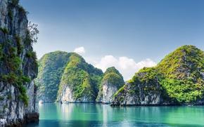 Обои Природа, Море, Скала, Утес, Вьетнам, Бухта, Halong Bay