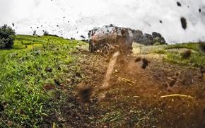 Картинка Природа, Трава, Спорт, Лето, Скорость, Гонка, Грязь, Renault, Грузовики, Россия, Rally, Ралли, Шёлковый путь, Silk …