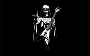 Обои Star Wars, guitar, Heavy Metal, Helmet