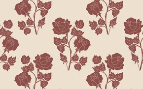 Картинка цветы, фон, розы, текстура