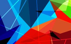 Обои линия, узор, объем, угол, краски, треугольник