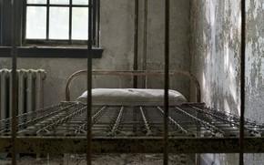 Картинка комната, кровать, окно, подушка