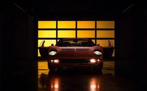 Картинка Авто, Lamborghini, Машина, Свет, 1971, Фары, Автомобиль, Supercar, Передок, Lamborghini Miura, P400, Jeremy Cliff, Lamborghini …