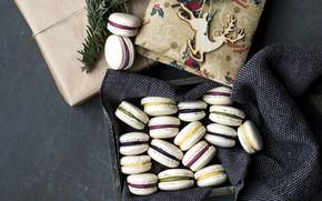 Картинка праздник, коробка, подарок, новый год, печенье, new year, box, выпечка, сладкое, sweet, gift, holiday, cakes, …