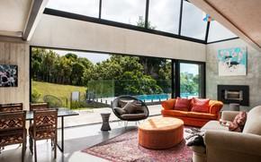 Картинка вилла, интерьер, бассейн, терраса, жилое пространство, Freeman's Bay Home