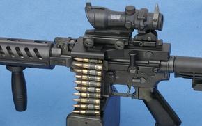 Картинка gun, weapon, Colt, rifle, ammunition