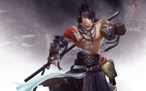 Картинка оружие, игра, воин, 暮 山 飞 雀 °, Джиан Ванг, Тибетский меч, бо-дзюцу