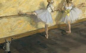Картинка картина, жанровая, Танцовщицы в Барре, Эдгар Дега