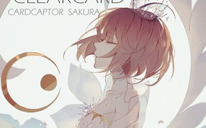 Картинка крылья, ангел, аниме, арт, девочка, Card Captor Sakura, Сакура - собирательница карт