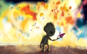 Картинка cinema, movie, Vin Diesel, film, Groot, buterfly, Guardians Of The Galaxy, Baby Groot, Guardians Of …