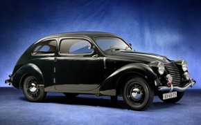 Обои Type 922, Škoda, 1939, Skoda, чёрный, Rapid OHV Streamlined Tudor