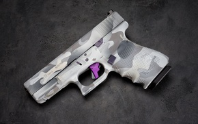 Картинка макро, пистолет, фон, glock 19
