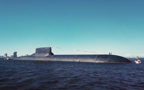 Обои лодка, акула, подводная, атомная, субмарина